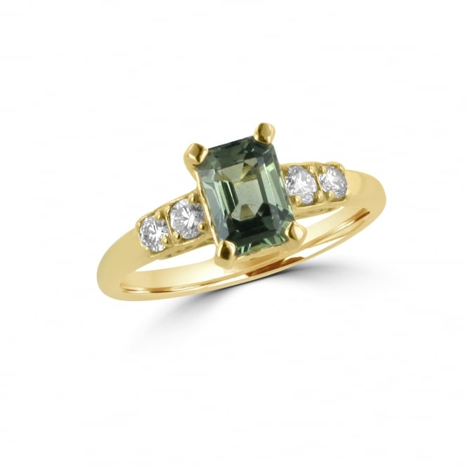 Avanti 1.24ct Green Sapphire and Diamond Ring