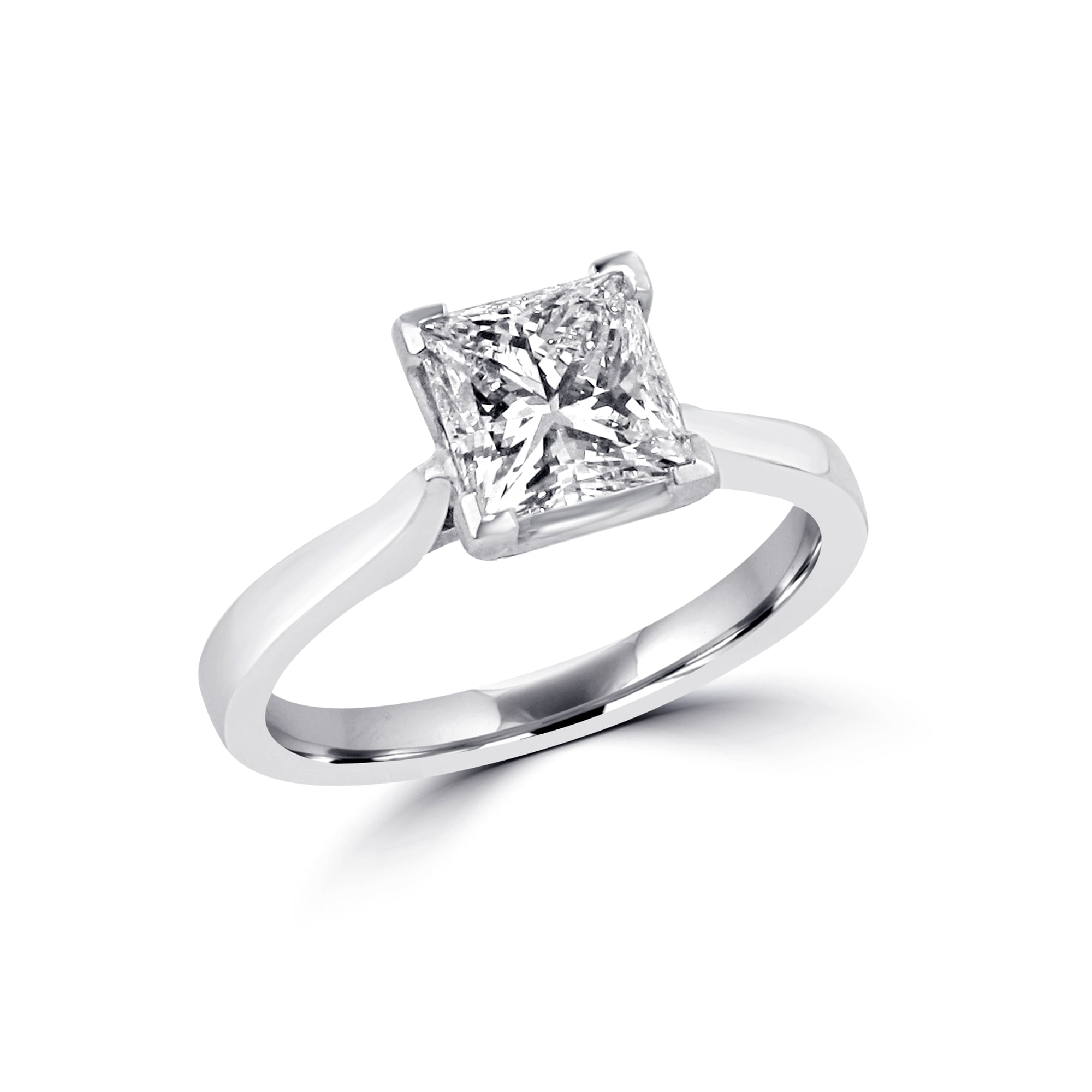 platinum gia diamond si engagement rings solitaire i round trellis certified in carat ring