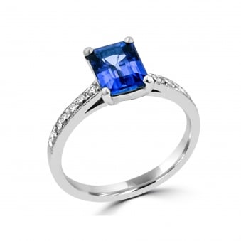 1.55ct Tanzanite and Diamond Ring RWD35448