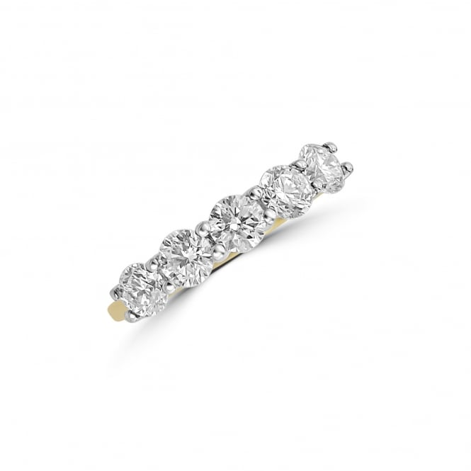 Avanti 18ct Gold Five Stone Round Diamond Ring 1.18ct Total RMT36310