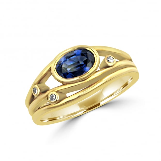 Avanti 18ct Gold Triple Band Sapphire Ring