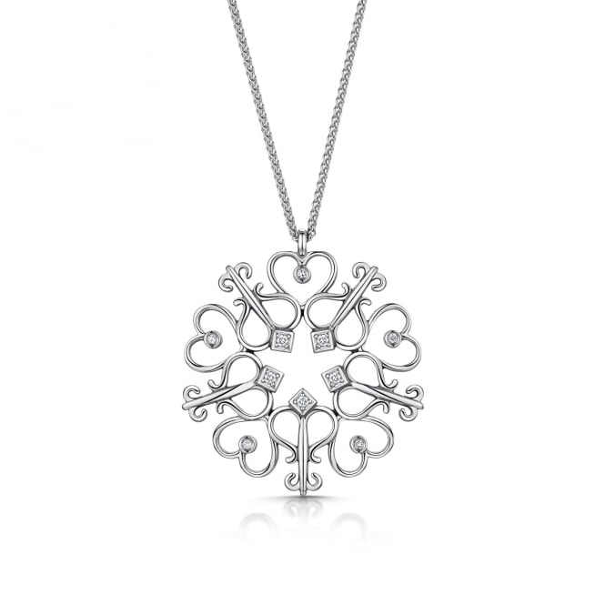 Avanti 18ct Key and Heart Diamond Necklace