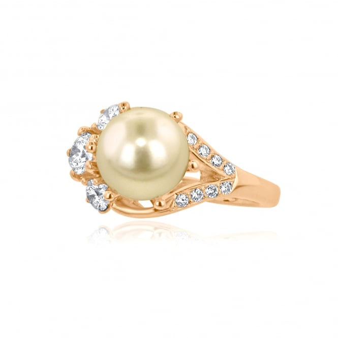 Avanti 18ct Rose Gold Akoya Pearl and Diamond Ring