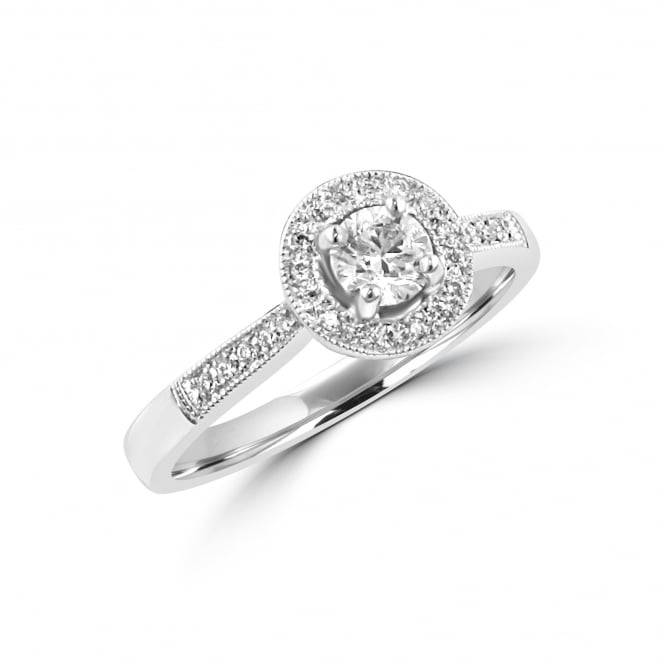 Avanti 18ct Round Diamond Halo Ring RWN34212