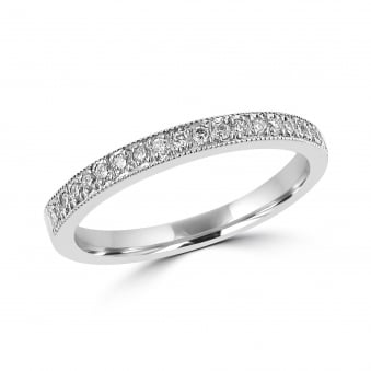 18ct White Gold 0.17ct Diamond Set Band Ring RWT30275