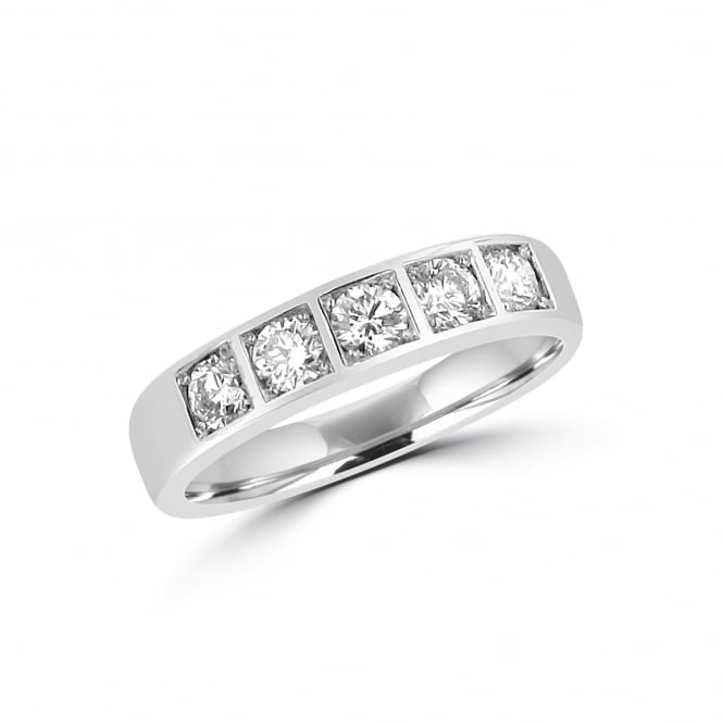 Avanti 18ct White Gold 4mm Chunky Five Stone Diamond Ring