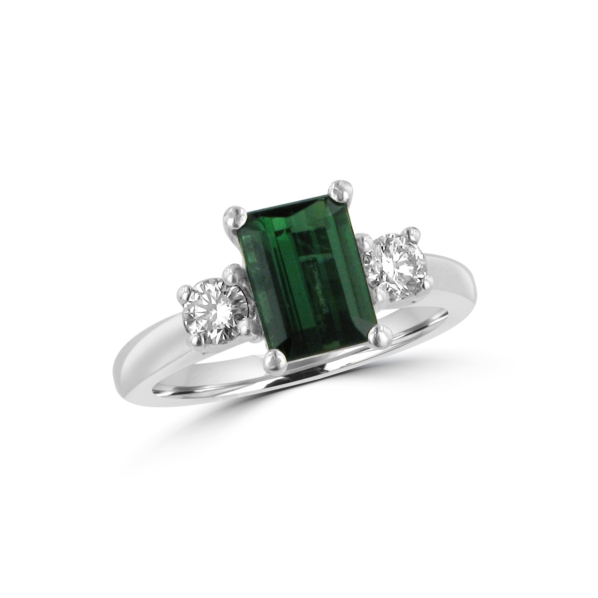ring tourmaline green cabochon rings
