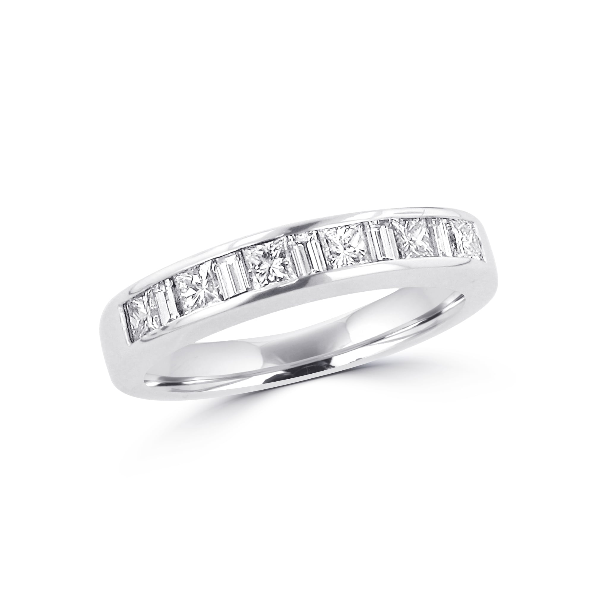 6f585df9de09be 18ct White Gold Princess and Baguette Diamond Eternity Ring 0.82ct Total  RWT36390