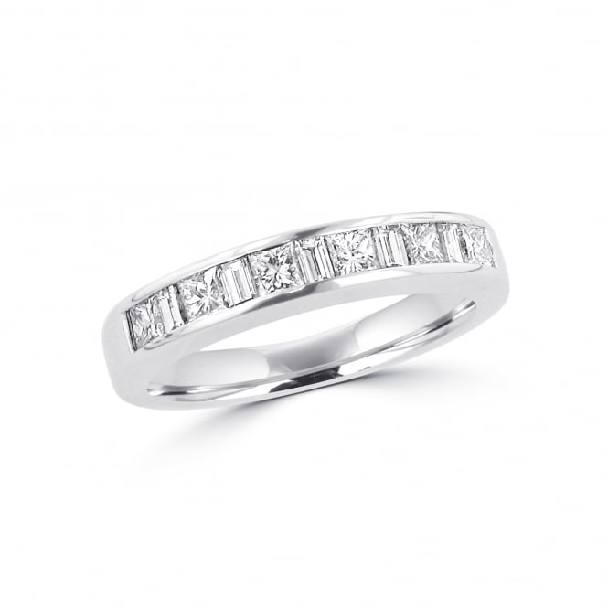 Avanti 18ct White Gold Princess and Baguette Diamond Eternity Ring 0.82ct Total RWT36390