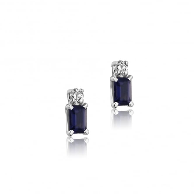Avanti 18ct White Gold Tanzanite and Diamond Stud Earrings
