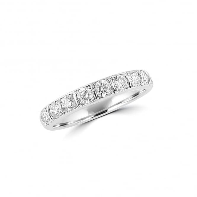 Avanti 18ct White Gold Ten Stone 0.82ct Diamond Band Ring RWT27149