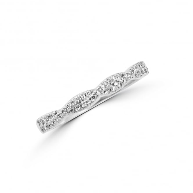 Avanti 18ct White Gold Twist Diamond Ring RWT36332