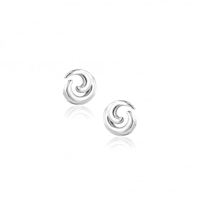 Avanti 18ct White Gold Wave Design Stud Earrings EWT36140