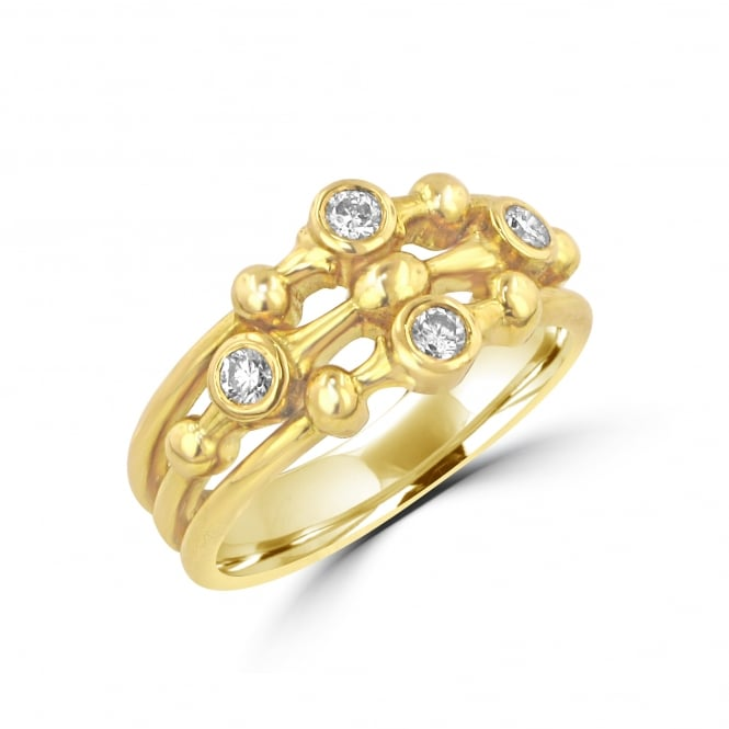 Avanti 18ct Yellow Gold Fancy Diamond Bubbbles Ring