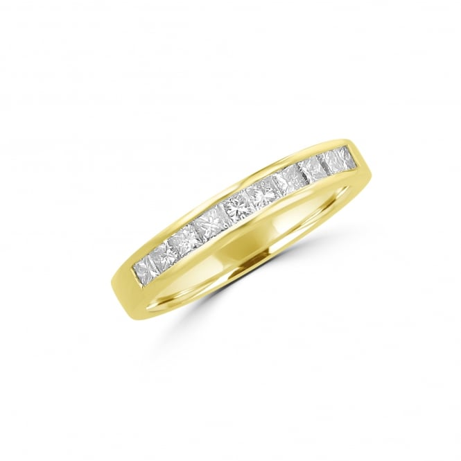 Avanti 18ct Yellow Gold Princess Diamond Band Ring 0.57ct Total RYT27401