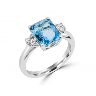 2.18ct Aquamarine and Diamond Ring RWD3421