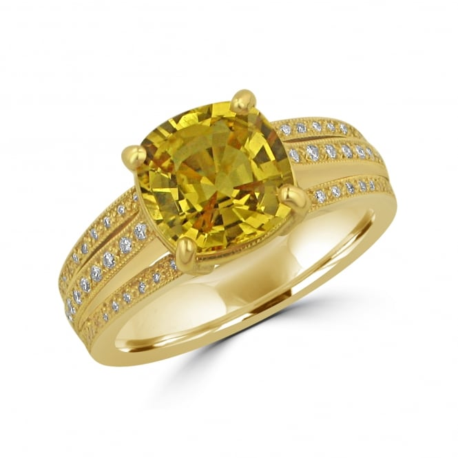 Avanti 2.99ct Yellow Sapphire and Diamond Triple Band Ring