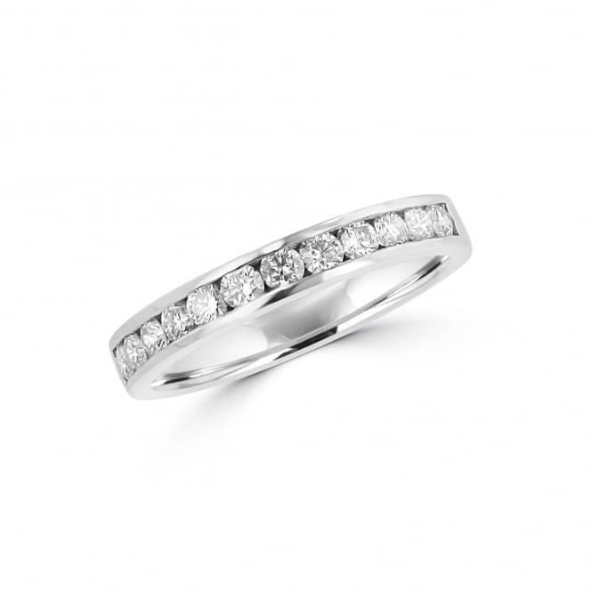 Avanti 3.2mm Platinum Band Ring With Round Diamond 0.52ct Total RPT36329