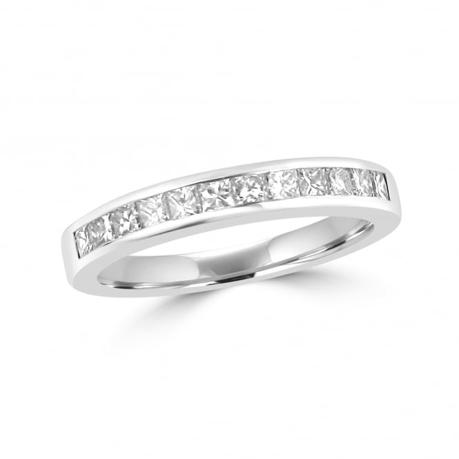 Avanti 3.3mm Platinum Twelve Stone Princess Cut Diamond Band Ring
