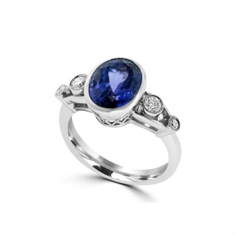 3.74ct Tanzanite and Diamond Ring RWD34305