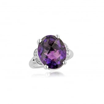 8.41ct Amethyst and Diamond Ring RPDD31265