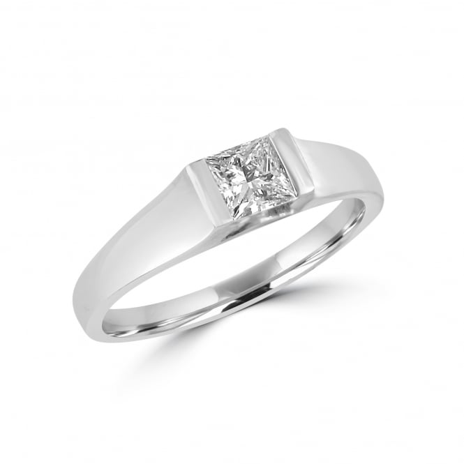 Avanti Chunky Platinum half carat Princess Diamond Engagement Ring RPN31230