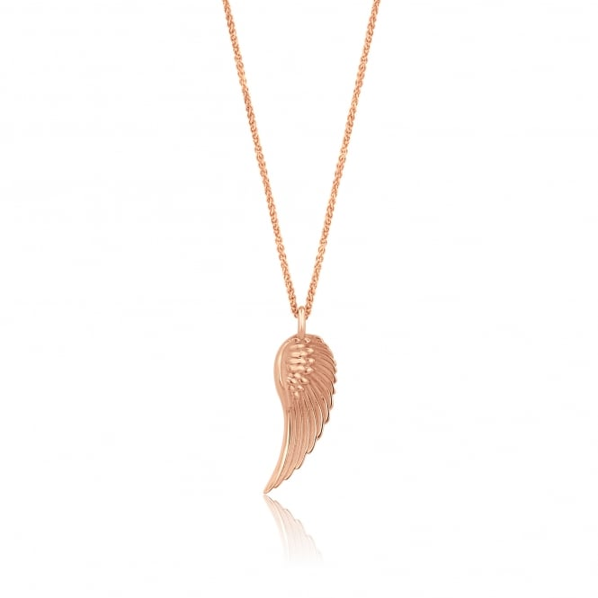 Avanti Deigned Feather Wing Necklace in Rose Gold PR3733 + CR3250