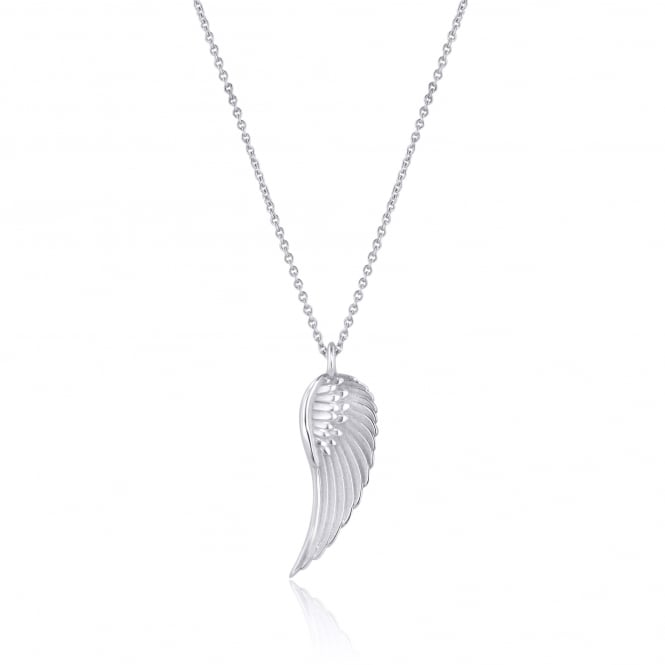 Avanti Deigned Feather Wing Necklace in White Gold PW378 + CW2569