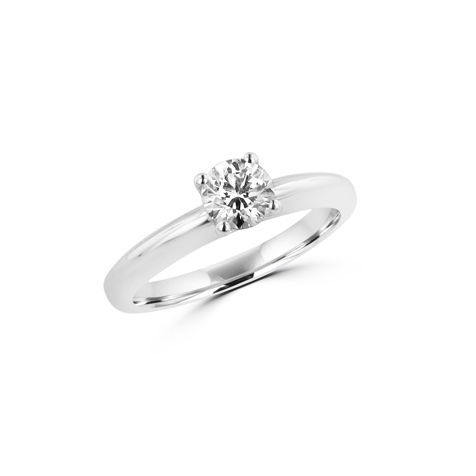 Half Carat Hearts and Arrows Round Diamond Engagement Ring fa3b6562d4
