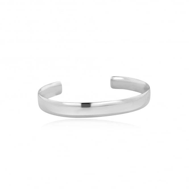Avanti Handmade 9mm Wide Silver Torque Cuff Bangle