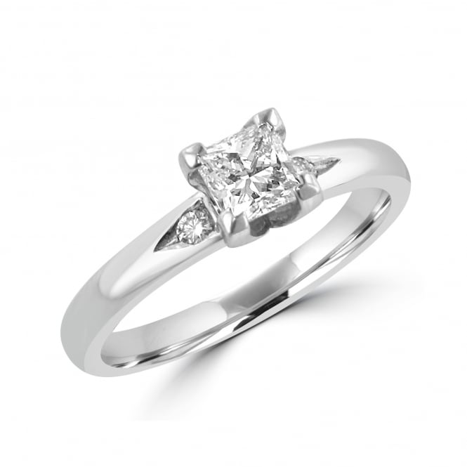 Avanti Platinum 0.55ct Princess Cut Diamond Engagement Ring RPN30366