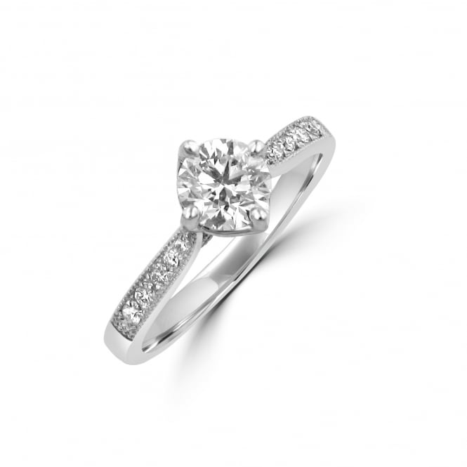 Avanti Platinum 0.64ct Round Diamond GIA Engagement Ring