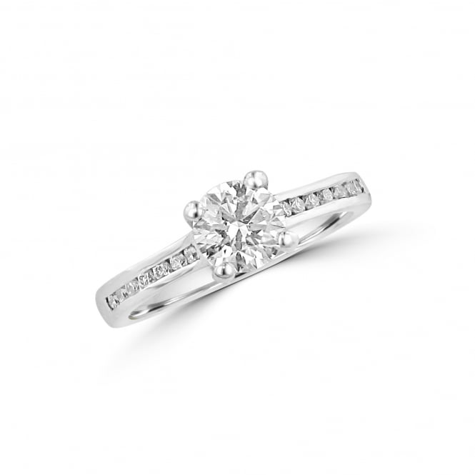Avanti Platinum 0.74ct Round Diamond Engagement Ring With Diamond Band RPN36348