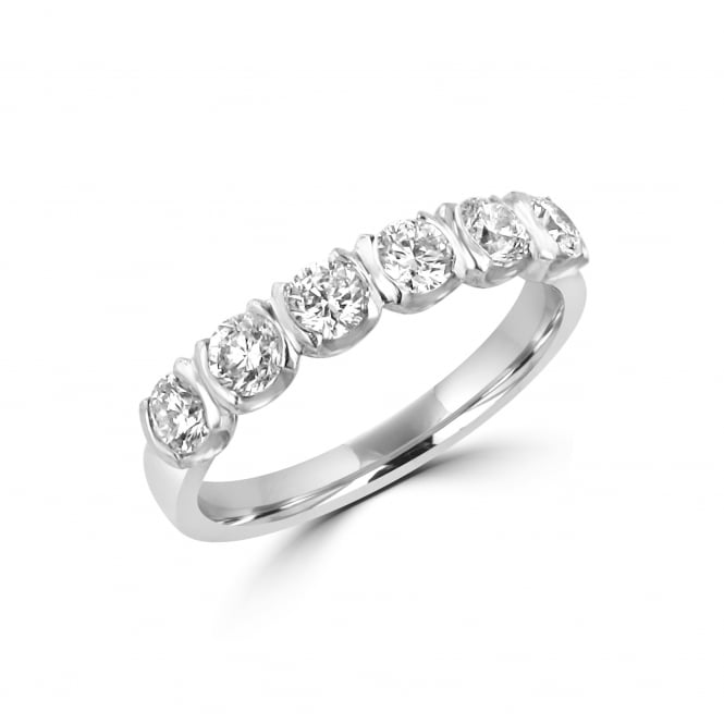 Avanti Platinum 0.92ct Round Brilliant Cut Diamond Band Ring RPD3634