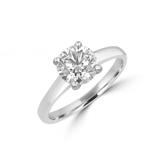 Avanti Platinum 1.53ct E Colour Round Diamond Solitaire Ring