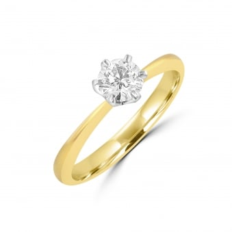 Platinum and Gold Half Carat Diamond Engagement Ring RKN28278