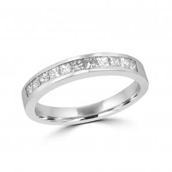 Platinum and Princess Diamond Eternity Ring RPT27402