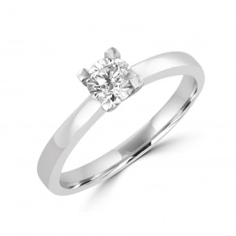 Platinum and Round Diamond Engagement Ring RPN32176