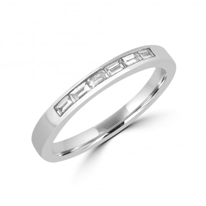 Avanti Platinum Baguette Diamond Band Ring RPT3081