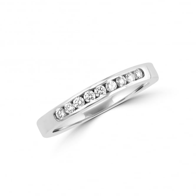 Avanti Platinum Channel Set Round Diamond Eternity / Wedding Ring