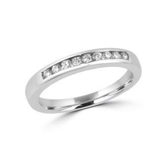 Platinum Round 0.19ct Diamond Eternity Band Ring RPT29179
