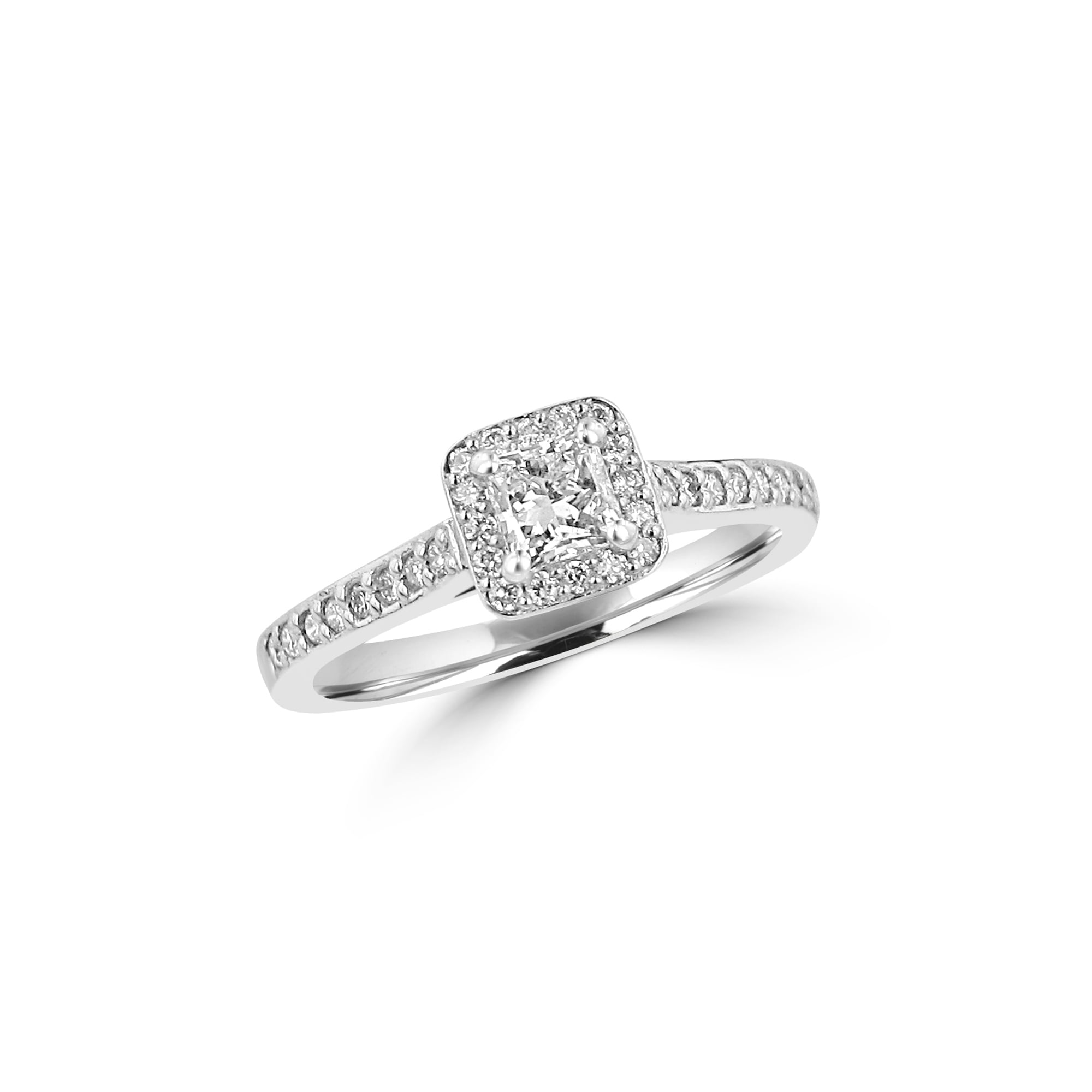 with product oval engagement double rings platinum uneek pave ring three shank stone classic silhouette