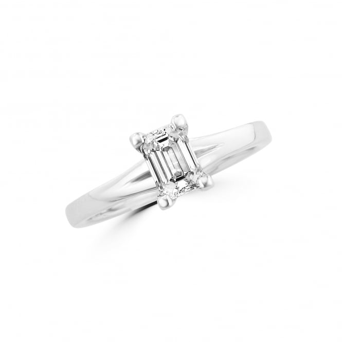 Avanti Pre-owned Emerald Cut Diamond Solitaire Engagement Ring RPN36484