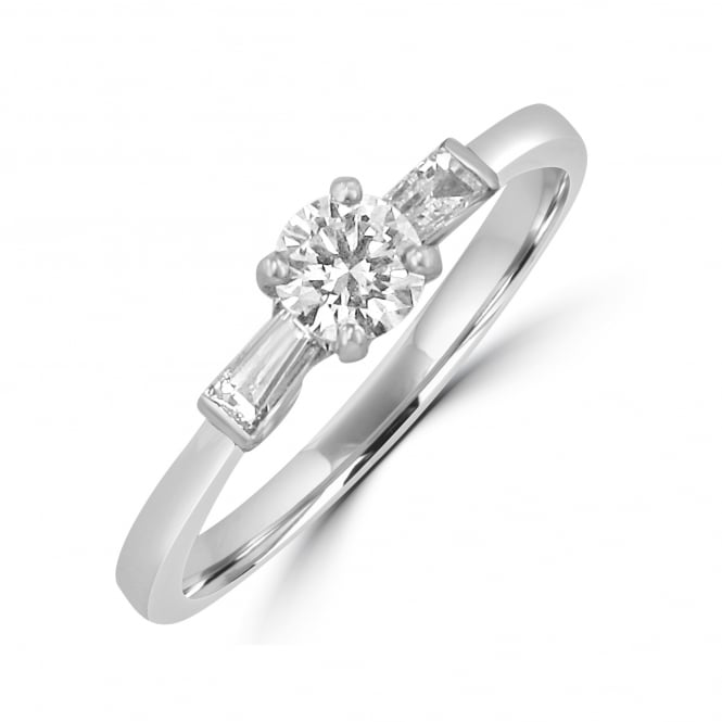 Avanti Round and Baguette Diamond Engagement Ring RWN33132
