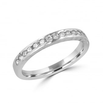 Scalloped Platinum 3.5mm Diamond Eternity Ring RPT29112