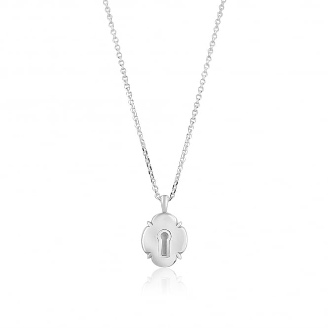 Avanti Silver Padlock Necklace (various key pendants also available)