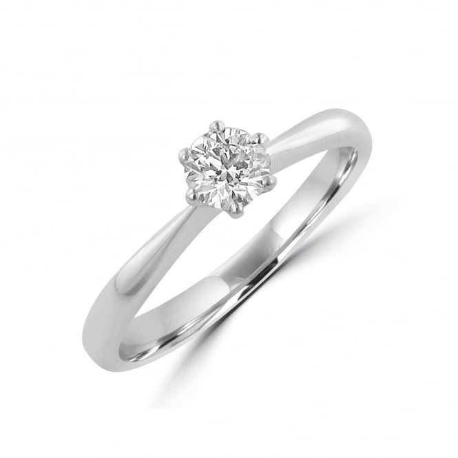 Avanti Six Claw Platinum 0.40ct Round Diamond Solitaire Ring RPN35183