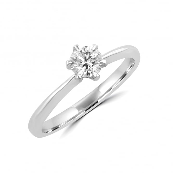 Avanti Six Claw White Gold Round Diamond Engagement Ring RWN35199
