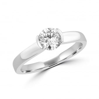 SOLD 0.71ct GIA Certified Round Diamond Engagement Ring RPN28286