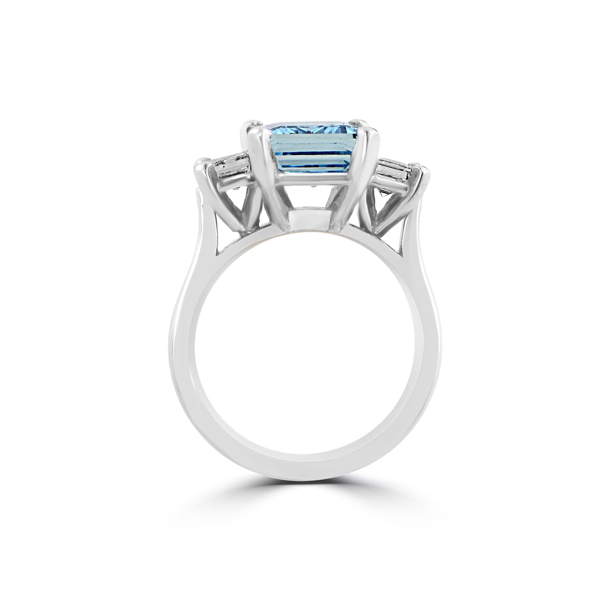 2979d97d9983b Three Carat Aquamarine and Diamond Three Stone Ring in 18ct White Gold  RWD36424